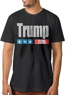 ^GinaR^ Men's Trump Three Star Comfortable Tee Black