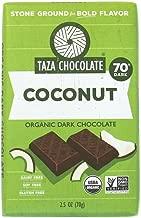 Taza Chocolate Organic Amaze Bar 70% Stone Ground, Coconut, 2.5 Ounce (1 Count), Vegan