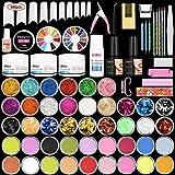 Acrylic Nail Kit, 42 in 1 Nail Acrylic Powder for Beginner, Nails Kit Acrylic Set for Acrylic Tips, DIY Decoration Acrylic Nails Starter Kit
