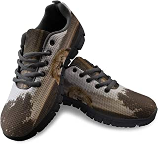 Fashion Sneakers for Women Shoes Lion in The Forest Classic Slip-On Comfort Mesh Sport Shoes for Running Walking