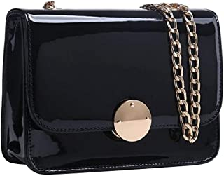 Women Messenger Bags Cover Hasp Chain Shoulder Bags Zipper Patent Leather Ladies Bags Bags