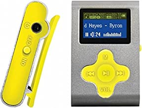"ECLIPSE Eclipse Fit Clip SL/YW 4GB 1"" MP3 Player (Silver/Yellow)"