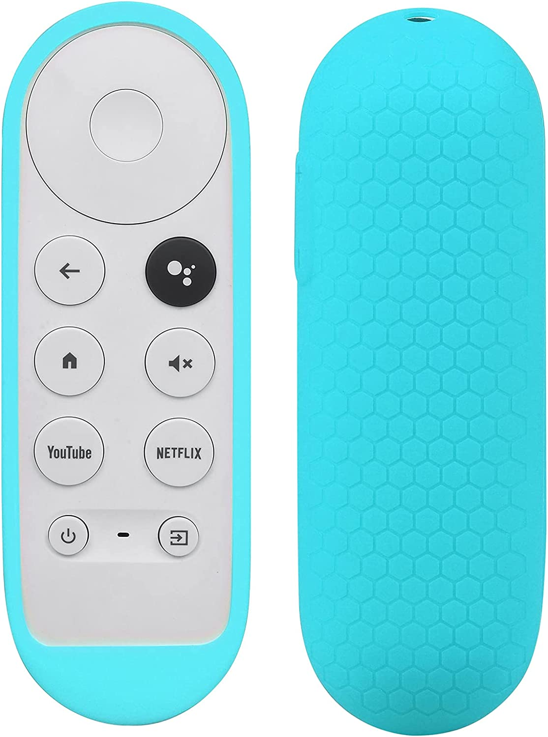Silicone Case Compatible with Google TV 2020 Voice Remote - SYMOTOP Shockproof Protective Remote Cover Skin Compatible with Chromecast with Google TV 2020 Voice Remote Control - Blue
