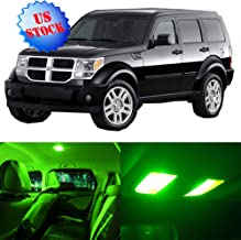 SCITOO Interior LED Lights Green Replacement for 2007-2011 Dodge Nitro Accessories Package Kit 15Pcs