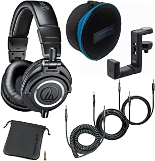 $163 » Audio-Technica ATH-M50x Monitor Headphones (Black) with Soft Case and Hanger