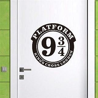 Stickers Muraux Platform 9 3/4 Kings Cross London pour panneau de porte