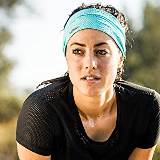 Halo Headband AIR Series - Bandit- Wide Pullover Headband for Both Women and Men.- Patented Lightweight, Moisture Wicking Headband -Channels Sweat Away from Your Face and Eyes