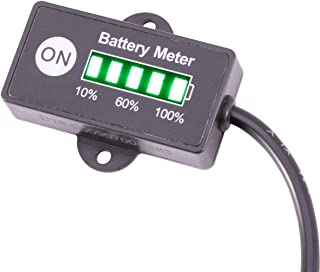 Searon 12V Battery Gauge Meter Indicator for Auto motorbike GOLF CARTS