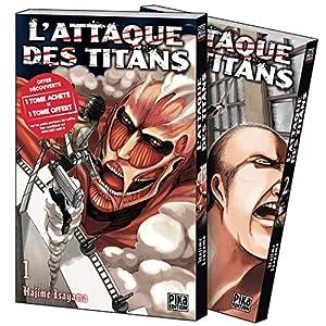 L'Attaque des Titans Pack découverte Tomes 1 & 2