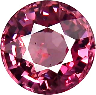 1.00 ct AAA+ Grade Round Shape (6 x 6 mm) Unheated Pink Malaya Garnet Natural Loose Gemstone