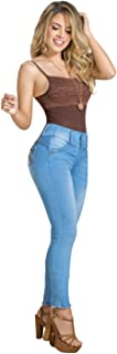 LT.ROSE Distressed Butt Lifting Ripped Colombian Jeans Levanta Cola by Draxy