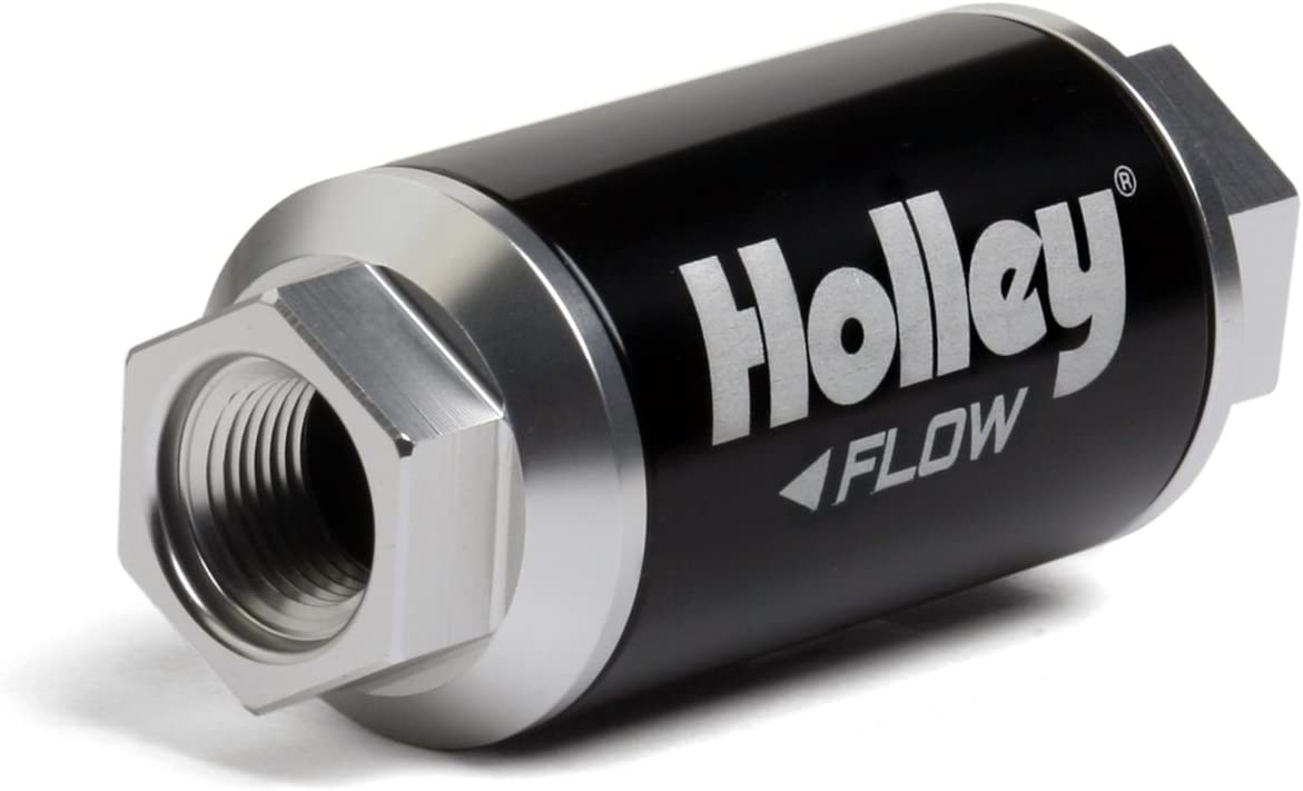 Holley 162-551 Black Max 79% OFF Billet Filter Finish Fuel Raleigh Mall