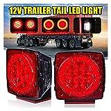 XIAOFANG 2 unids LED Trailer Trailer Truck Tail Light Light Travelight Freno Trasero Lámpara de señal Lámpara Impermeable Ajuste for Barco Lorry Autobús