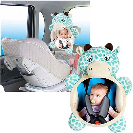 Smtd Einfache Montage Tier Baby Autospiegel Verstellbar Bruchsicher Babyspiegel Teddy Bär Kindersitz Spiegel Baby Bruchsicheres Glas Rücksitzspiegel Baby