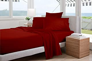 Cotton Alley Premium Range 1000-Thread Count Super Soft 100% Egyptian Cotton Luxurious 4-Piece Breathable & Comfy Solid Co...