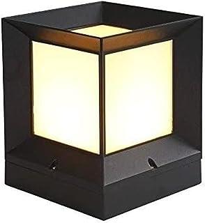 J-Style Square Small Landscape Column Light IP65 Outdoor Waterproof Pillar Lantern European Exterior Rainproof Post Lamp A...