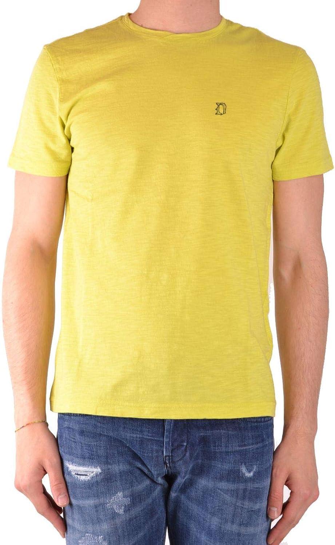 d8b854f43 Dondup Men's US208JF0236UU24DU419 Yellow Yellow Yellow Cotton T-Shirt edebc0
