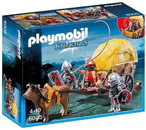 Playmobil Knights Hawk Knight`s with Camouflage Wagon Figura de construcción - Figuras de construcción,, 4 año(s), 10 año(s), Niño, 3 Pieza(s)