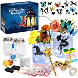 ✓ FAIRY NIGHT LIGHT KIT: This set includes everything needed to make two fairy lanterns – jars with light-up lids, glitter, glue, brushes, silhouettes, ribbons, stickers, roses, butterflies, bells, twine and a magic wand (batteries not included). ✓ M...