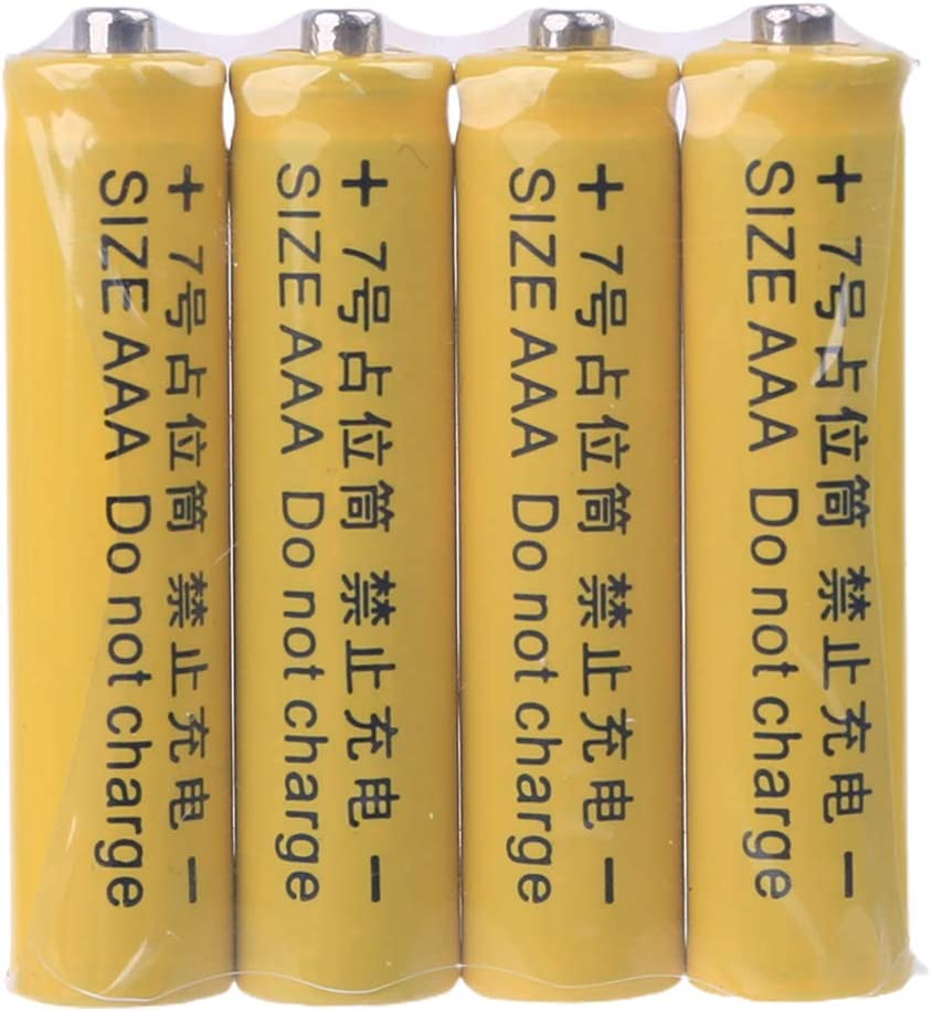 4Pcs No Power 10440 LR03 AAA Dummy Fake Battery Placeholder Cylinder Conductor