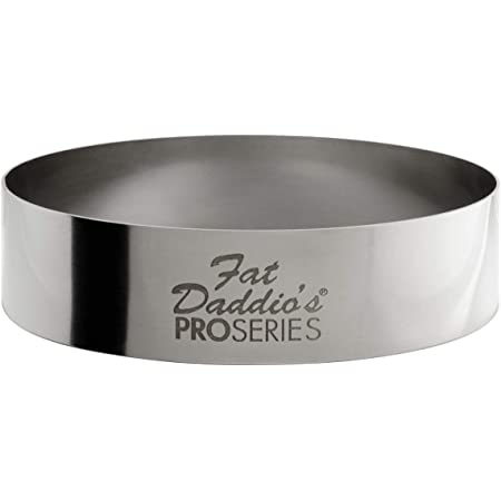 Fat Daddio's Stainless Steel Round Cake & Pastry Ring, 2.75 inch x 0.75 inch