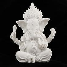PPCP The Hue Sandstone Hindu Ganesha Buddha Elephant God Statue Sculpture Fengshui Figurine Decor Ornament 4-5inch (Color...