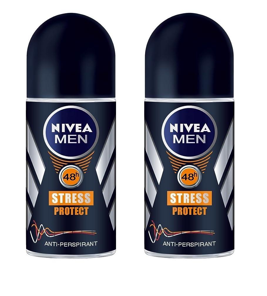 中絶光景プライム(Pack of 2) Nivea Stress Protect Anti-perspirant Deodorant Roll On for Men 2x50ml - (2パック) ニベア応力プロテクト制汗剤デオドラントロールオン男性用2x50ml