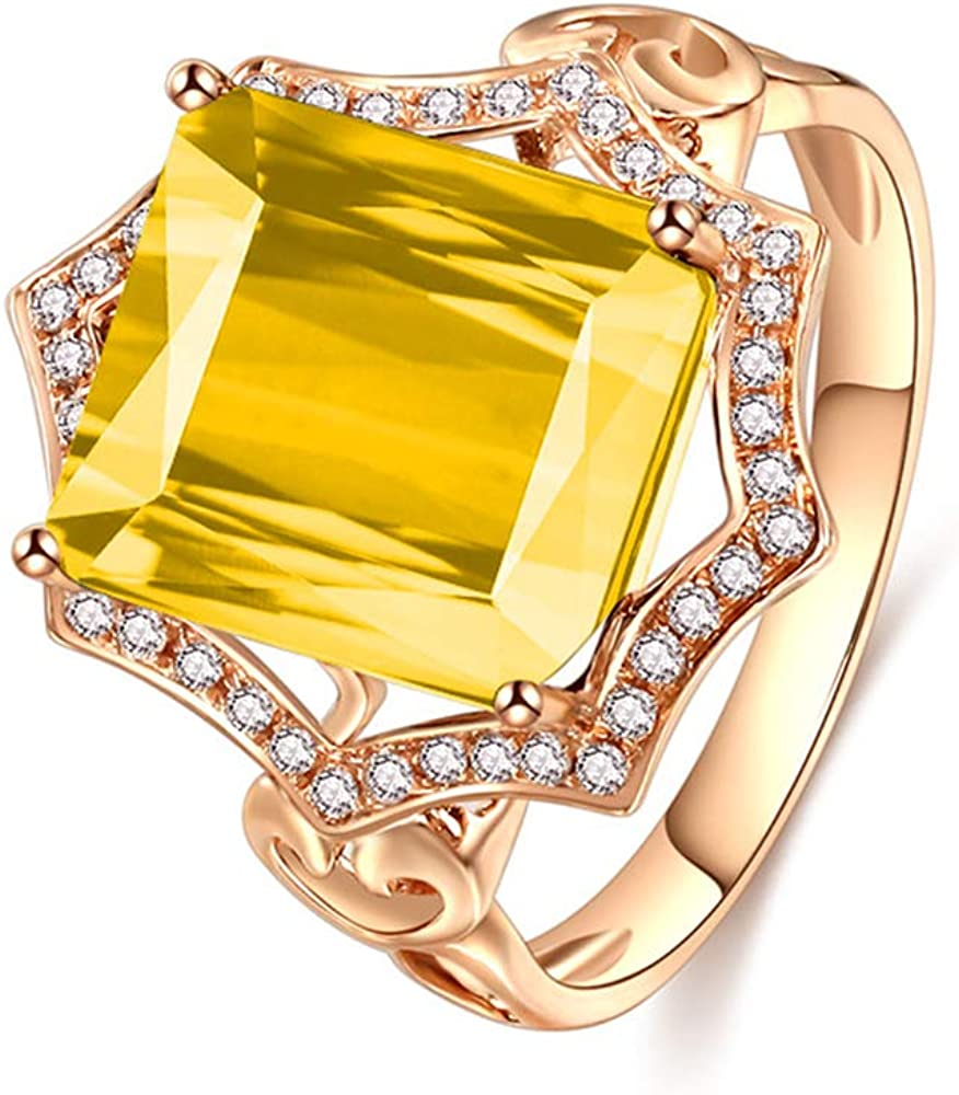 GW Very popular Fashion Women Ring Square for 5% OFF Elegant Tourmaline Rings