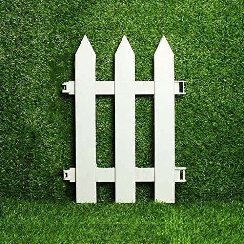 WXQIANG 10 Stück weiße Kunststoff-Zaun, Gras Rasen Rand Zaun, Innen Garten Border, Garten Schienen-Zaun Weiß Pickets, 35x50cm