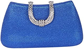 Fawziya Glitter Lnitials Clutch Purses For Women Hard Case Evening bag