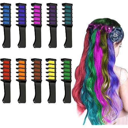 ATOPDREAM 10 Colores de Tinte Capilar Temporal Juguete de Regalo Niño Niña - DIY Color de Pelo