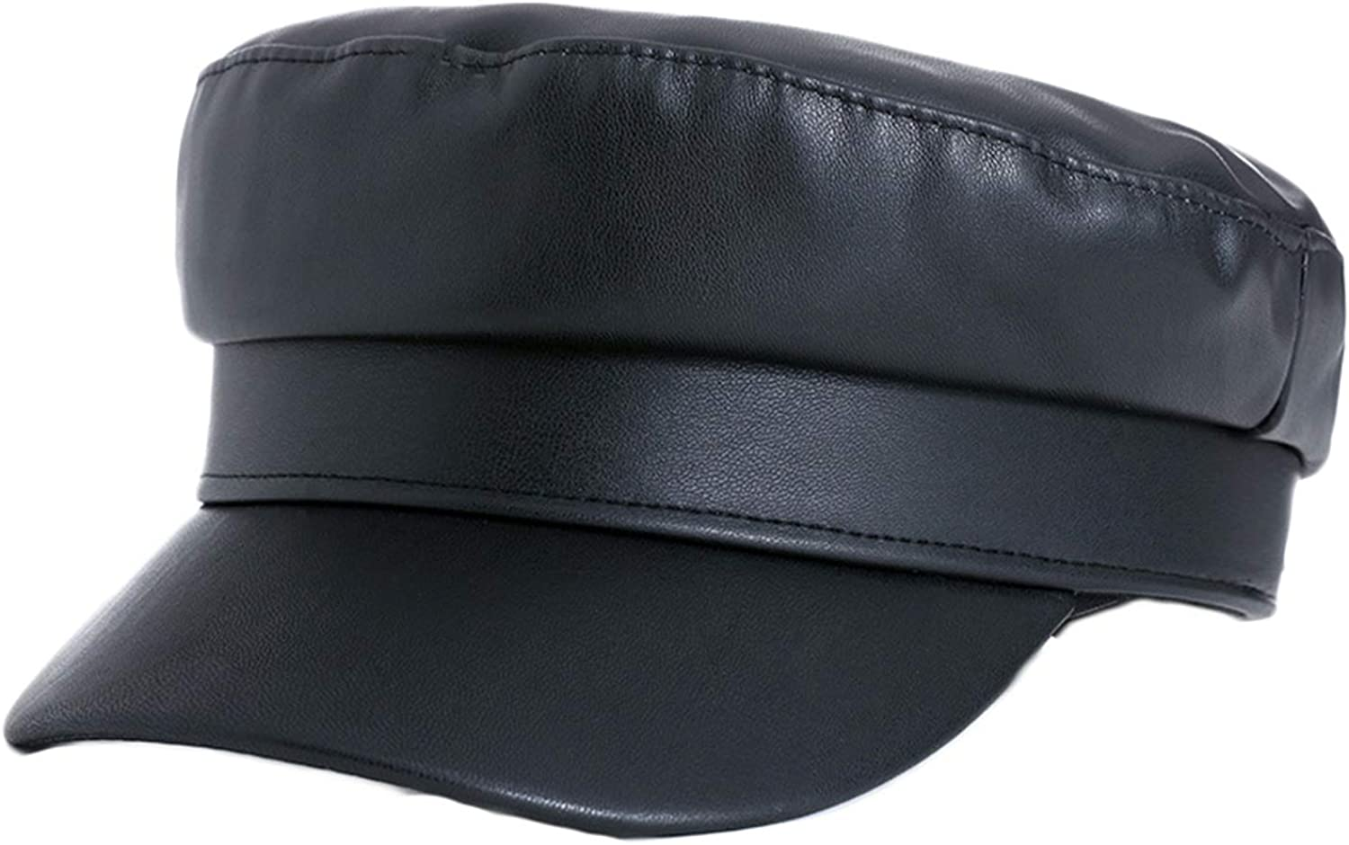 Andongnywell Men's Ultra-Cheap Deals and Women's Solid Max 65% OFF Leather Faux Caps Color PU
