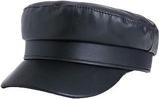 Women Newsboy Hats PU Leather Hat Beret Cap Visor Beret Cabbie Hat Ivy Cap Classic Mariner Fisherman?s Sailor Hats
