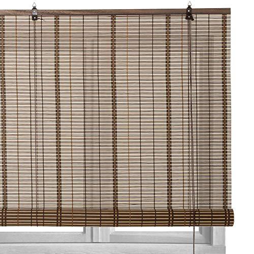 Estor Enrollable marrón de Varillas de bambú de 180x160 cm - LOLAhome