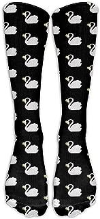 Men's Novelty Swan Queen Sweater Crazy Outdoor Sport Calf High Long Sock Athletic Crew Socks