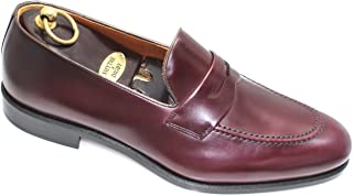 SMYTHE & DIGBY Men's Calf Cordovan Leather Penny Loafers