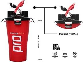 Strauss Dual Shaker Pro - Red, 700 ml