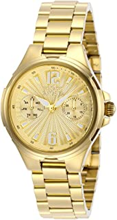 Invicta Women's Angel Quartz Watch with Stainless Steel Strap, Gold, 18 (Model: 29149)