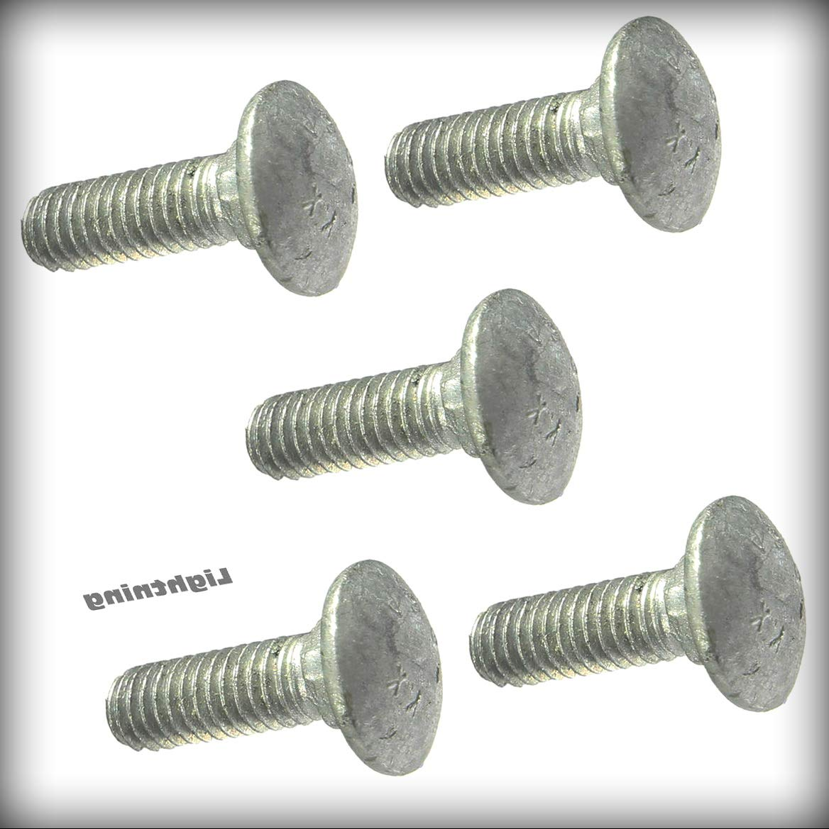 New All stores are sold Pack of 100 Pcs 3 8-16 NEW Carriage Bolt x inch Machine 6