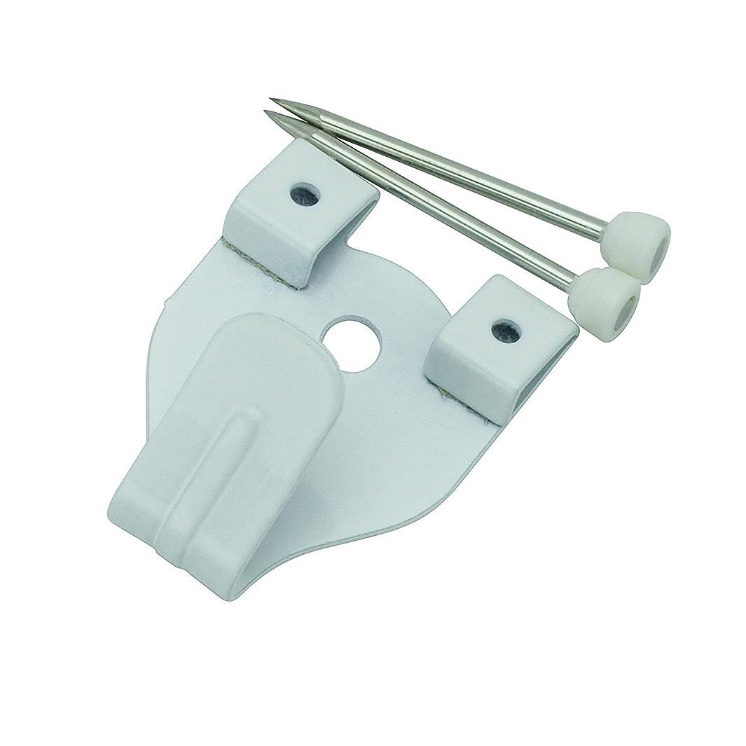 不快許される被害者福井金属工芸製 額吊り用 白フック 中 二つ針 5個セット