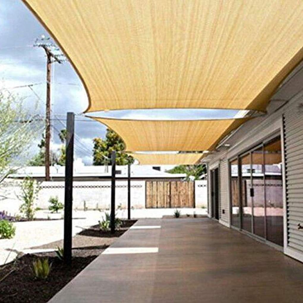 疎外没頭する高くZX タープ シェーディングネット 屋外ガーデン中庭パーティー 日焼け止めオーニング95%長方形砂 換気 テント アウトドア (Color : Yellow, Size : 2X4M)