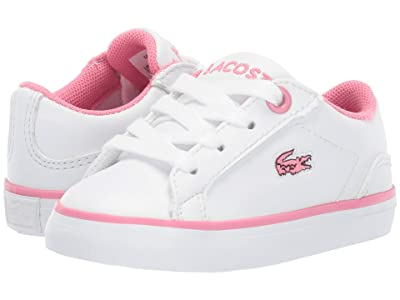 Lacoste Kids Lerond BL 2 CUI (Toddler/Little Kid) (White/Pink) Girl