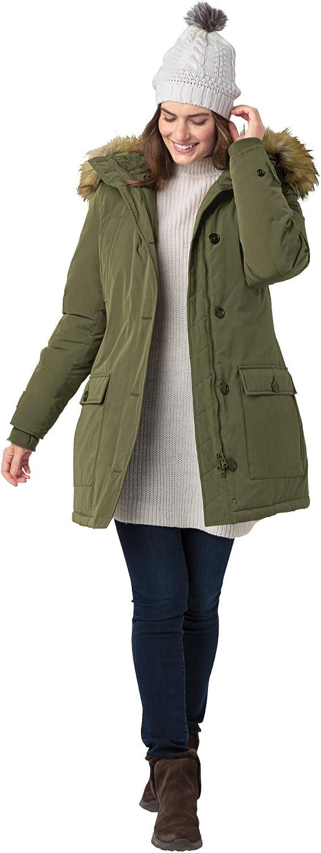Woman Within Women's Plus Size The Arctic Parka Coat