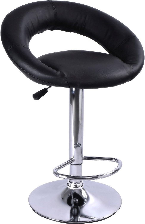 Generic LQ.8.LQ.1203.LQ ivel Ba Swivel Bar Stool Adjust Adjustable Counter l P Pub Barstools Chairs arstool PU Leather Black New Black New US6-LQ-16Apr15-3110