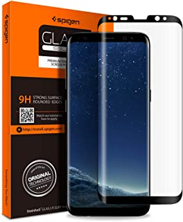 Spigen Glas.tR Curved Galaxy S8 Plus Screen Protector [ Tempered Glass ] [ Case Friendly ] for Samsung Galaxy S8 Plus