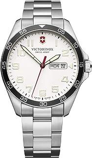Victorinox - Field Watch Reloj para Hombre Analógico de Cuarzo con Brazalete de Acero Inoxidable V241850