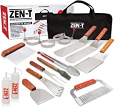 ZEN-T - 17 Piece Grill Griddle BBQ Tool Kit - Heavy Duty Professional Grade Stainless Steel BBQ Tools - Perfect Grilling Utensils for All Your Grilling Needs – Outdoor and Indoor BBQ Accessories