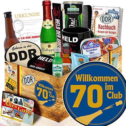 Wilkommen im Club 70 / Geschenke 70. Geburtstag / Ostalgie Set für Männer