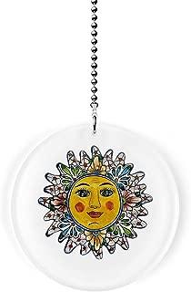 Mexican Talavera Design Pastel Sun Fan/Light Pull