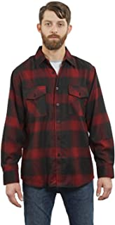 YAGO Men's Outdoor Long Sleeve Flannel Plaid Button Down Shirt, S-5XL